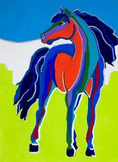 Horse ~ gouache ~ June 2015 https://www.facebook.com/stephaniecwilsonpaintings