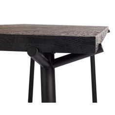 Branch Dining Table In Black On Oak By Blu Dot Wood Bench Steel