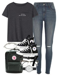 Outfit for school by ferned featuring blue jeans mango pocke - School outfits summer jeans backpacks - School Outfits Highschool Outfits With Converse, Edgy Outfits, Mode Outfits, Grunge Outfits, Cute Casual Outfits, Teenage Outfits, Teen Fashion Outfits, Outfits For Teens, Womens Fashion
