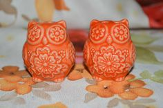 Mini Owl Salt & Pepper Shakers. SO CUTE!