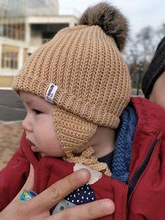 d35655648b0 Beige Baby merino hat Organic baby clothes Baby reveal box Organic newborn  hat Knit earflap hat Merino wool baby hat Woolen hat Hat with ear