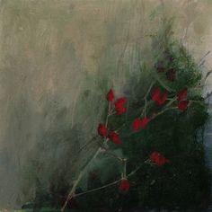 Rosehips I  Oil On Linen Linda Felcey