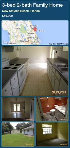 3-bed 2-bath Family Home in New Smyrna Beach, Florida ►$59,900 #PropertyForSaleFlorida http://florida-magic.com/properties/26332-family-home-for-sale-in-new-smyrna-beach-florida-with-3-bedroom-2-bathroom