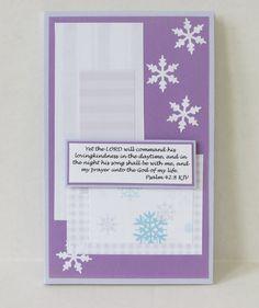 Snowflakes Prayer Journal Winter Themed Handmade by stufffromtrees on Etsy