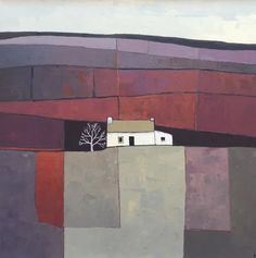 Watercolor Landscape, Abstract Landscape, Landscape Paintings, Cubism Art, Cityscape Art, Contemporary Abstract Art, Country Art, Paintings I Love, Cool Landscapes