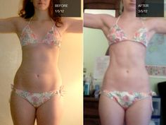"My brain says, ""You look the same."" These pictures say, ""No, no you don't.""    Shannon sculpts her body with P90X."