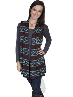 Scully Tucson Sleeveless Sweater Jacket AT COWGIRL BLONDIE'S WESTERN ONLINE BOUTIQUE