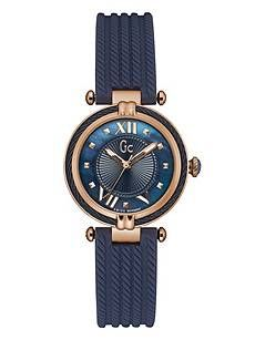 2310d7071 Gc Rose Gold & Blue Cable Timepiece at Guess