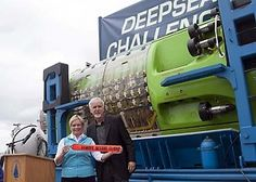James Cameron came to Woods Hole, Mass., to donate his submarine, the Deepsea Challenger, to the Woods Hole Oceanographic Institution. He piloted the sub to the deepest spot on Earth. Deepsea Challenger, Challenger Deep, Woods Hole, James Cameron, Astrophysics, Submarines, Under The Sea, Cape Cod, Science And Technology