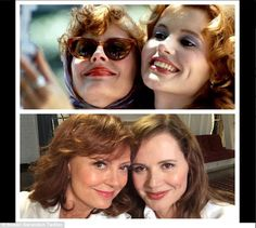 'Inventors of the #selfie at it again #ThelmaAndLouise': On June 19, Susan sent fans into a frenzy when she posted this behind the scenes sh...
