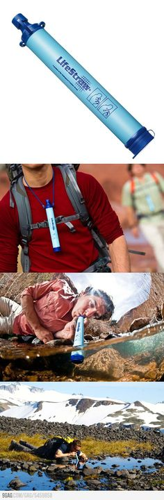 LifeStraw - Drink All The Dirty Water!  I have one of these...it's awesome!
