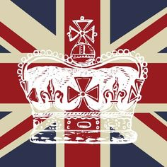union jack with crown. bring me back to London Decoupage, Churchill, Jeff Leatham, British Values, Union Flags, British Things, British Invasion, England And Scotland, Save The Queen