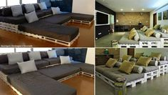 Pallet home theatre seating