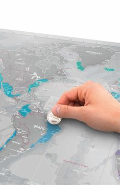 Mark your territory with a luxurious world map coated with scratch-off metallic foil to help you keep track of where you've been (and plan trips to places you've yet to visit).