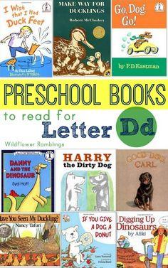 preschool books for the letter d - Wildflower Ramblings