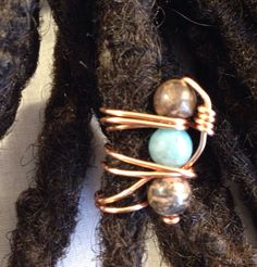 Items similar to Semi-precious Stone Copper Dreadlock Bead Dread Locs Accessories on Etsy Dreadlock Beads, Dread Beads, Hair Beads, Loc Jewelry, Unique Jewelry, Dread Accessories, Diy Jewelry Making Supplies, Hair Jewels, Alex Ross