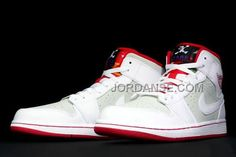 Air JD 1 (I) Retro Mid WB White/True Red-Light Silver-Black 719551-123 New  Release