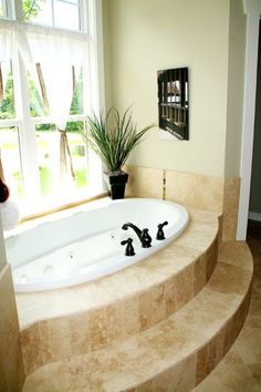 Corner Whirlpool Tub Design Ideas, Pictures, Remodel, and Decor ...
