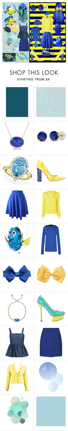 """Crossover-Fishy"" by fandom-girl365790 ❤ liked on Polyvore featuring Tempaper, Allurez, Pollini, MSGM, Disney, Tasc Performance, Kendra Scott, Nicholas Kirkwood, CO and Chanel"
