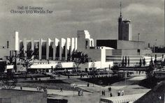 https://flic.kr/p/FwiUp5 | Vintage 1933 Chicago World's Fair Postcard, A Century Of Progress - Hall Of Science, Printed In USA