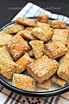 Mákos-szezámos sós süti