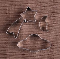 Outer Space Cookie Cutters: Space Ship, Shooting Star & Moon