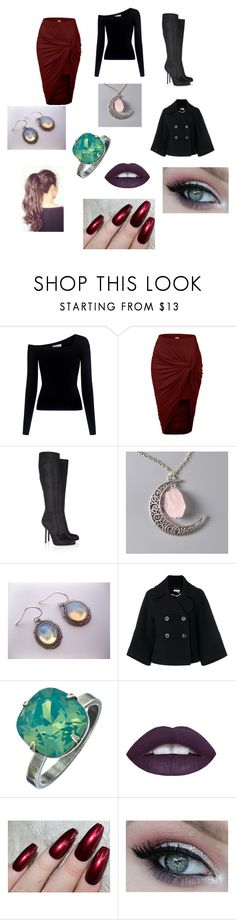 """""""Serena James Bonfire"""" by singlemom ❤ liked on Polyvore featuring A.L.C., LE3NO, Sergio Rossi, Chloé, Liz Palacios and L.A. Girl"""