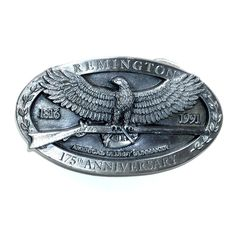 Remington Americas Oldest Gunmaker Bergamot Pewter Belt Buckle