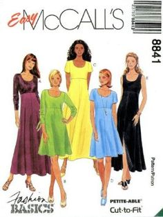 sewing patterns high waisted dresses - Google Search