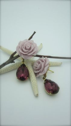 RAGS TO RICHES  Lavender Rose Cabochon Went From by NoisyButterfly, $24.50