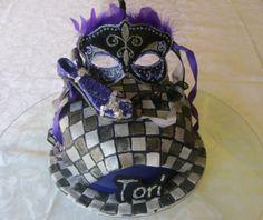 Checkered Mask/shoe