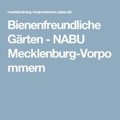 Bienenfreundliche Gärten - NABU Mecklenburg-Vorpommern