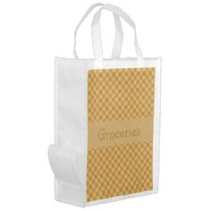 Shop Fall Leaf Yellow Squares Reusable Grocery Bag created by Personalize it with photos & text or purchase as is! Autumn Fall, Autumn Leaves, Reusable Grocery Bags, Paper Bags, Save The Planet, Folded Up, Fall Season, Gingham, Squares