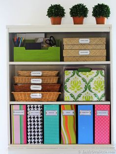 The Container Store Magazine File Knock-Off Tutorial {In My Own Style.com}  #home office organization