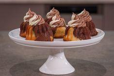 ΜΙΝΙ MARBLE ΚΕΙΚ ΜΕ ΒΟΥΤΥΡΟΚΡΕΜΑ ΚΑΚΑΟ-ΒΑΝΙΛΙΑ - ΣΕΦ ΣΤΟΝ ΑΕΡΑ Muffins, Brownie Cupcakes, Pudding, Sweets, Cookies, Desserts, Food, Brownies, Greek