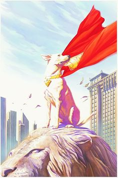 And because you almost never see it, here's some Krypto art by the great Alex Ross.