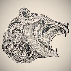 Ter oriental tribal motivo ornamental. vector art illustration
