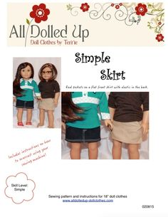 """A simple and classic design for your 18"""" doll such as American Girl is now available only at www.alldolledup-dollclothes.com"""