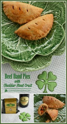 Beef Hand Pies with Cheddar-Stout Crust for St. Patrick's Day | Home is Where the Boat Is