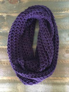 Deep Purple Infinity Scarf by CaughtOnAHook on Etsy