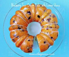 This Blueberry Sour Cream Cake tastes as yummy as it looks! Many have made this cake and are always happy with the result. Have it on its own or drizzle some sweet-tangy lemon glaze on top. Always comes out moist and yummy!