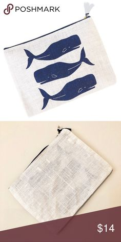 """🆕Mud Pie Whales Jute Carry-All Clutch 🐳 Super cute beach theme """"Whales"""" carry-all clutch in a jute fabric. White tassel attached to the zipper to keep your personal belongings inside. Water resistant storage for your tech accessories. 12x9 dimensions. Ideal to bring along with you to the beach, summer picnic or on vacation. NWT Mud Pie Bags Clutches & Wristlets"""