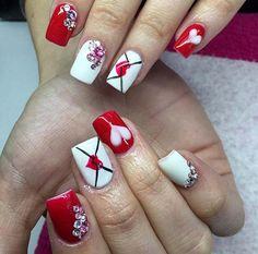 Stunning neutral nail art designs 32 ~ Dresses for Women Best Acrylic Nails, Acrylic Nail Art, Acrylic Nail Designs, Neutral Nail Art, Red Nail Art, Holiday Nails, Christmas Nails, Coffin Nails, Unicorn Nails Designs