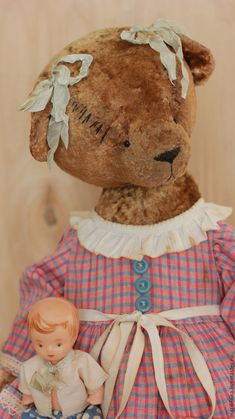 Купить Анечка. - коричневый, тедди, мишка тедди, теддик, Плюшевый мишка, мишка, винтажная фурнитура