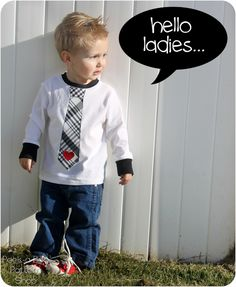 Boys Valentine's Day Tie Tee Shirt with Free Applique Template - Peek-a-Boo Pattern Shop: The Blog