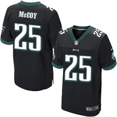 e746552f6 Nike LeSean McCoy Men's Elite Black Philadelphia Eagles 2014 Jersey - NFL  #25 Alternate