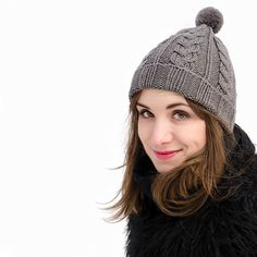 Cool pattern and cozy merino wool beanie for every stylish girl <3