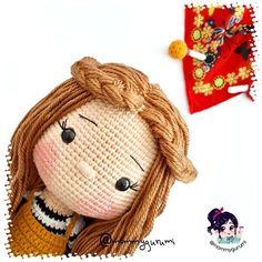 Doll Amigurumi Free Pattern, Crochet Doll Pattern, Amigurumi Doll, Crochet Dolls, Easy Crochet Patterns, Crochet Cross, Free Crochet, Double Crochet, Single Crochet
