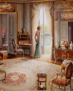 """Victorian Lady, Green Dress"""