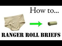 Travel Tips: How to Army Fold Underwear, Basic Training Style - The Best Ranger Roll Tutorial - YouTube